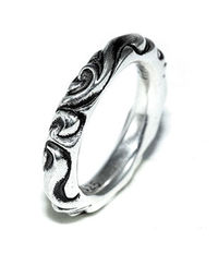 Chrome Hearts Scroll Band Siver Ring 2012 Style