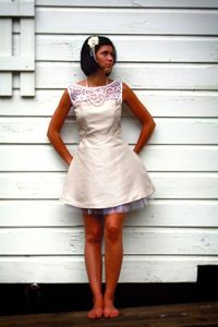 Different kind of lace topped dress