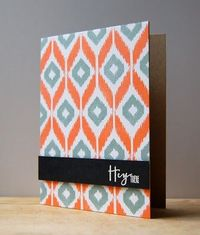Ikat Hey There Card by Cristina Kowalczyk for Papertrey Ink (February 2013)