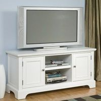 "Home Styles Naples 44"" TV Stand in Rich Multi Step White"