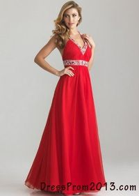 Sexy Red Sequin V Neck Long T Shaped Back Formal Dress