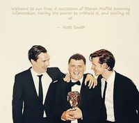 Matt Smith quote on Moffat. This is the most accurate thing ever. #DoctorWho #Sherlock