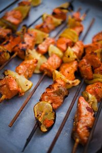 Grilled Salmon Kebabs from