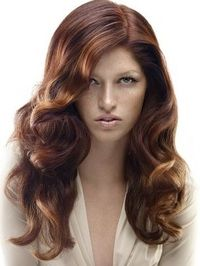 Hair Color Ideas: Brown hair with Auburn highlights (Revlon's auburn hair color)