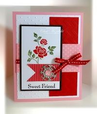 Stampin' Up! Valentine by Chat Wszelaki at Me, My Stamps and I: Sweet Friend