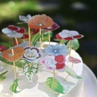 Vellum Flower Cake DIY