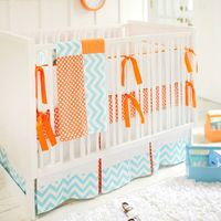Crib Bedding Orange Crush from