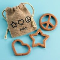 Eco friendly natural teethers from Land of Nod.
