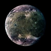 Ganymede. One of Jupiter's Moons.