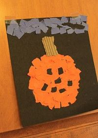 Busy Kids = Happy Mom: Search results for torn paper pumpkin