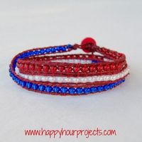 Happy Hour Projects: Red, White & Blue Wrap Bracelet