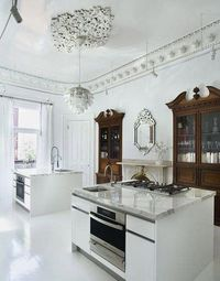 cabinets ressessed into the wall....how cool is this!