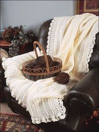 cape cod cables and shells...link to lots of afghan patterns
