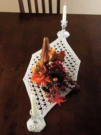 Crystal Eyelet Table Runner