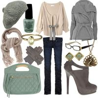 Pale aqua and grey