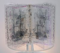 Claire Jeanine Satin, Artworks/Artspace Dania Beach, Florida Pentimento/Marking Time Images generated and manipulated from 1880's experiments in physics book.