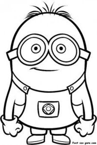 free printable despicable me minions printable coloring pages for kids - Minion Printable Coloring Pages