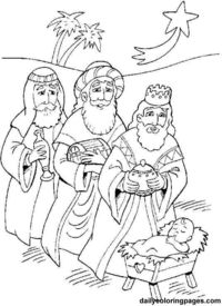wise men christmas coloring pages 06png 536