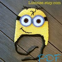 Despicable Me Minion Hat Pattern Crochet hat PDF by lizzziee, $3.99