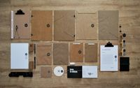 Brown paper Visual Identity #stationery