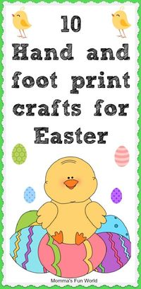 10 hand and foot print crafts for Easter