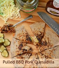 Pulled BBQ Pork Quesadillas