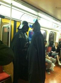 Something's about to happen on the subway.
