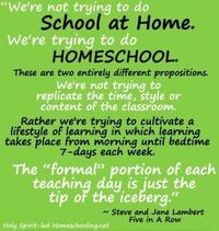 cultivating a lifestyle of learning #homeschool