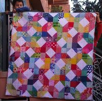 Life's Rich Pattern made with patchwork wheel block tutorial