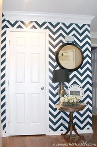 chevron stiped wall tutorial