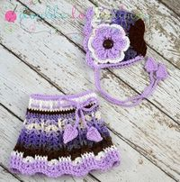 Baby Skirt with Matching Bonnet