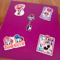 Free printable Mickey & Friends Valentine's Stickers