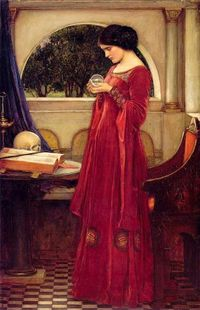 John William Waterhouse: The Crystal Ball Skull (1902)