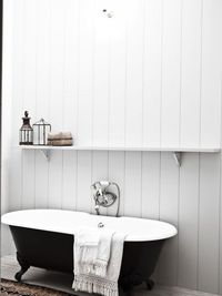 black and white bathroom in Belgian house designed by Vincent van Duysen
