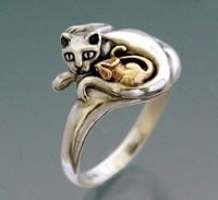cat and mouse ring by Sheppard Hill Designs