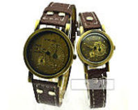 Couple's Leather Wrap Watch, Lover Wrist watch, Crown Leather Watch, Leather Wrap Watch, Crown Watch, Mens Wome