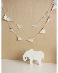 Natural paper garland children inspire design