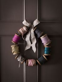 Spools of thread wreath