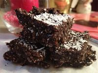 No Bake Coconut Brownie Bites SF GF DF