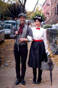 Mary Poppins and her friend Bert