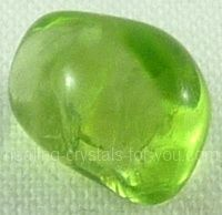 Peridot - It will enable you to learn how to be happy more easily. This energy will flow through you and correct problems... and aid you wherever needed. Its unique vibration brings through spiritual energies that will bless and energize your life. It is ...