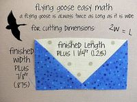 No Waste Flying Geese Tutorial - Includes easy math for different sizes