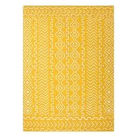 Golden yellow patterned rug