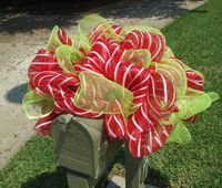 Deco Mesh Mailbox Swag Christmas Mailbox Decoration by LuxeWreaths, $75.00