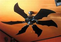 Bat blade ceiling fan