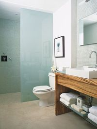 Watery glass mosaic tiles