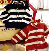 Striped Outdoor Jackets free knit pattern