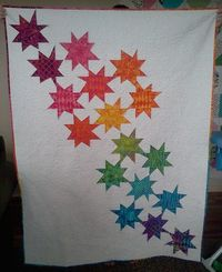 Star light Star bright Quilt by Emily Herrick of Crazy Old Ladies Quilts Blog.