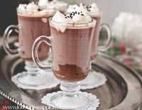 Mississippi Kitchen: Black Bottom Hot Chocolate Mugs with Marshmallow Whipped Cream