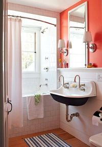 coral bathroom.